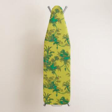 Green Toile Ironing Board Cover